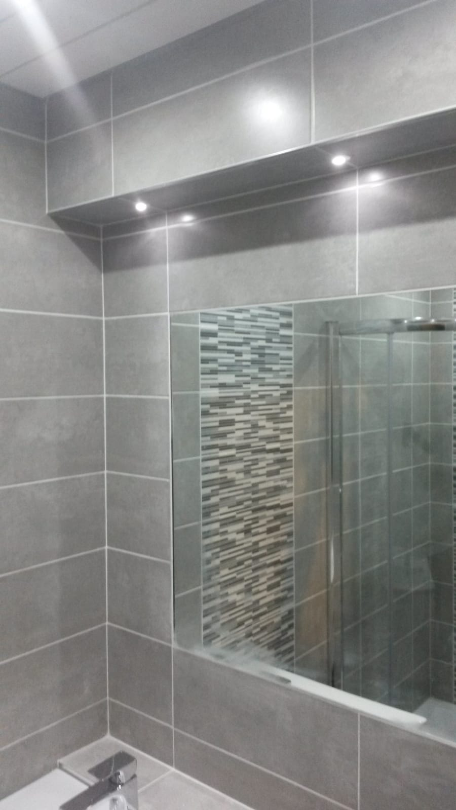 Ensuite With Mosaic Feature Shower